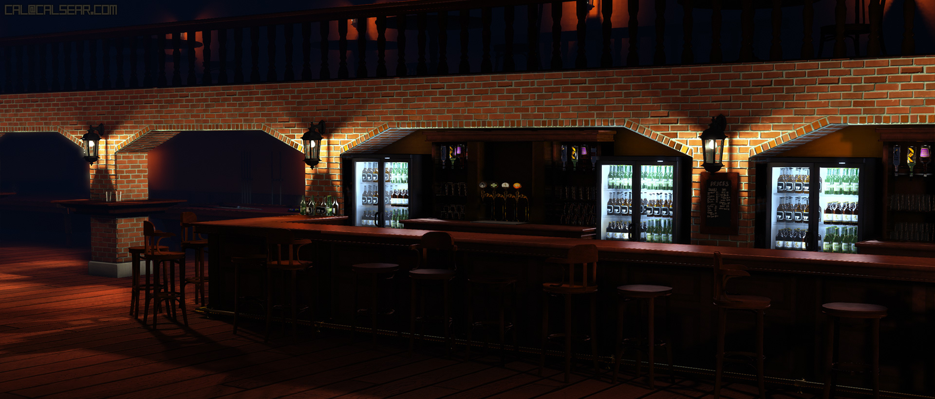 View more info on Downtown Bar, a Streets of Rage 2 inspired environment